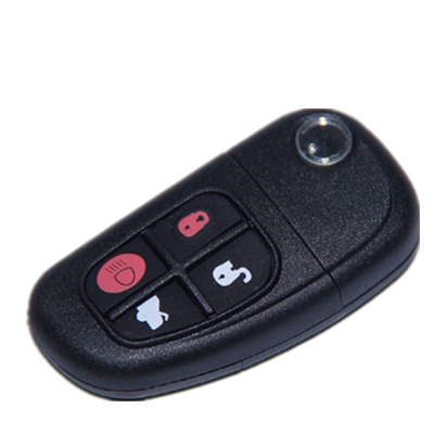 QKY008008 4 button Folding remote control key 315MHZ 4D60 glass chip For Jaguar
