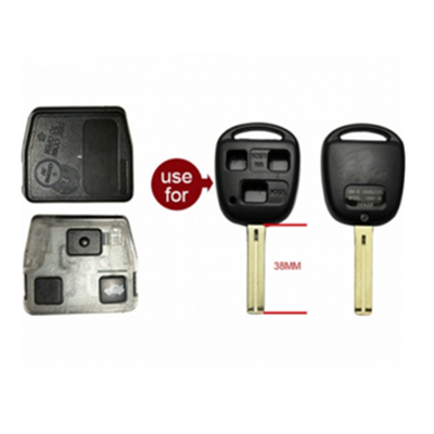 QKY015004 For Lexus 3 button Remote 314.4MHZ  ID4C 24090(HYQ1512V)