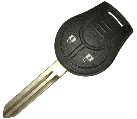 QKY032001  Remote Key 2 Button 433MHz ID46 Chip for NISSAN Micra K14 Original