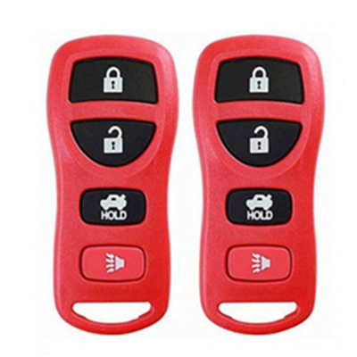 QKS032003 Red New Replacement Red Keyless Remote Key Fob Case Shell For Nissan 4 Buttons